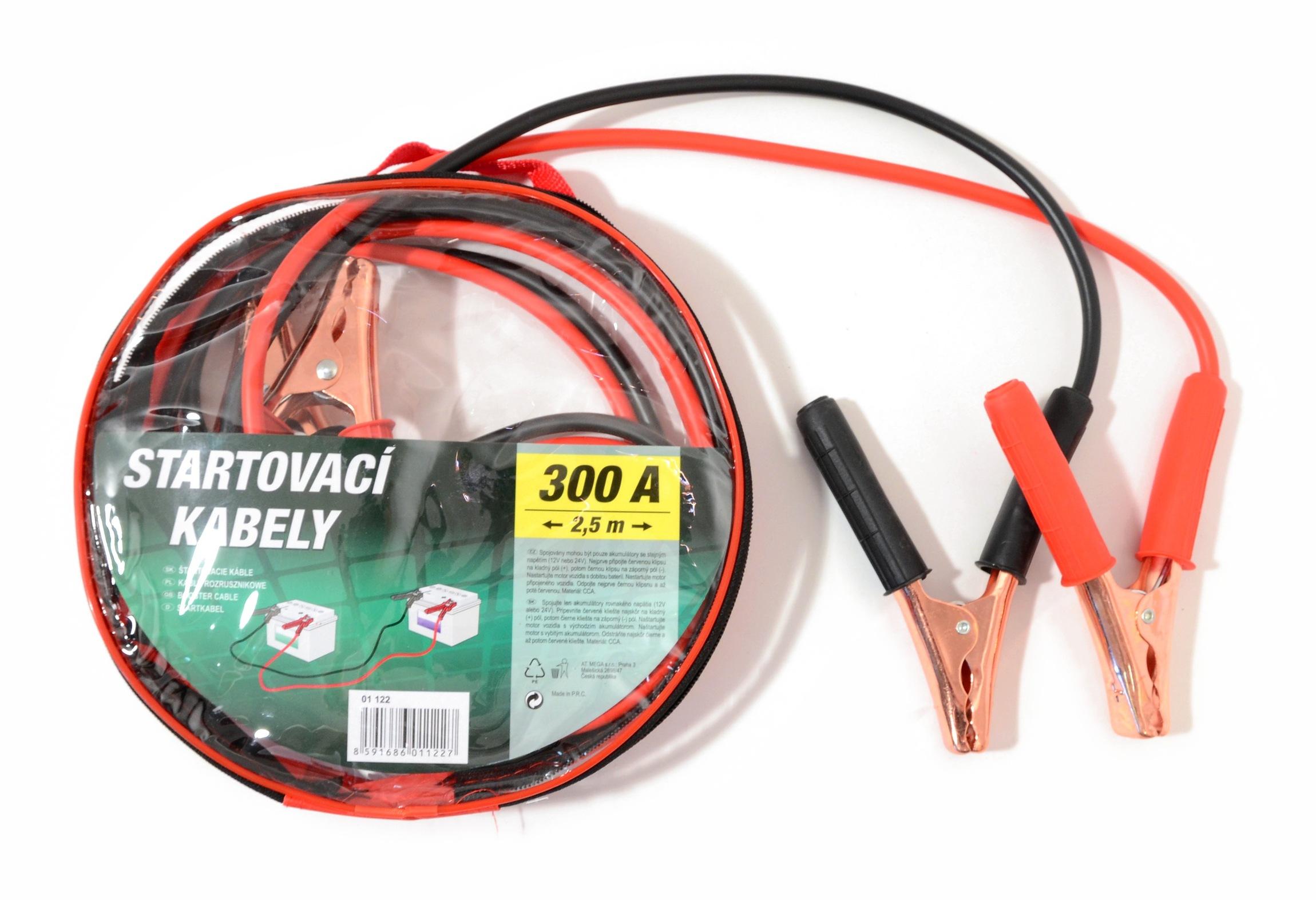 Compass 01122 Startovací kabely 300A  2,5m zipper bag