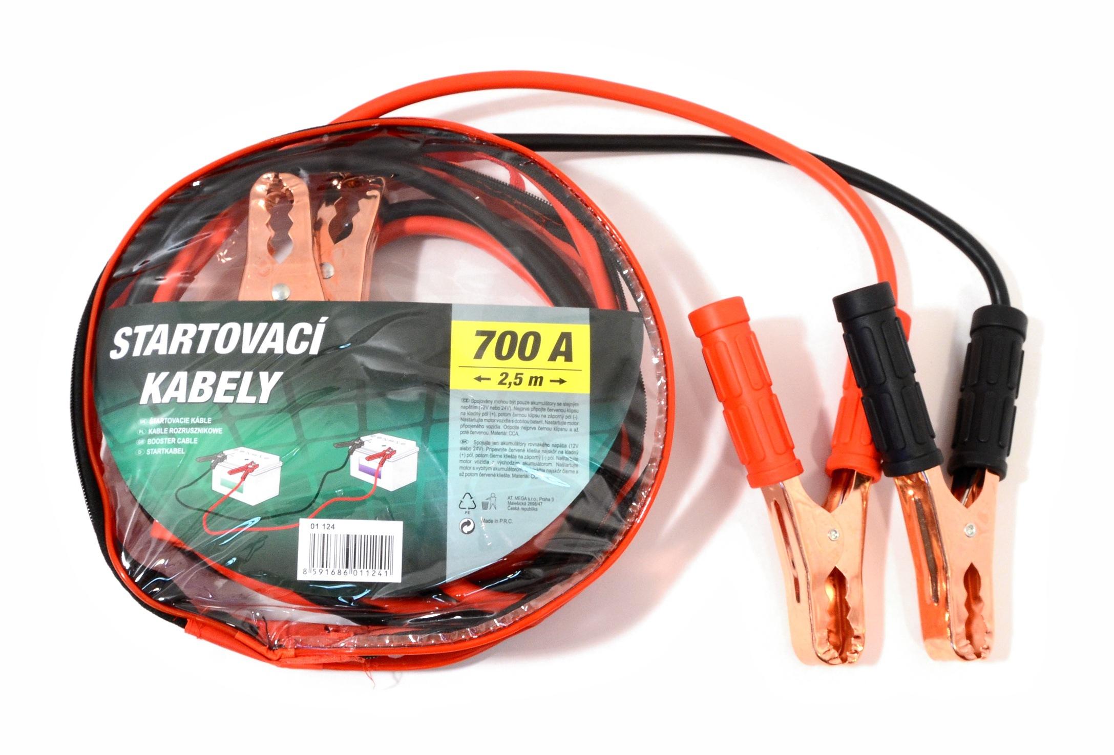 Compass 01124 Startovací kabely 700A  2,5m zipper bag