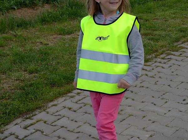 Vesta výstražná žlutá dětská S.O.R.