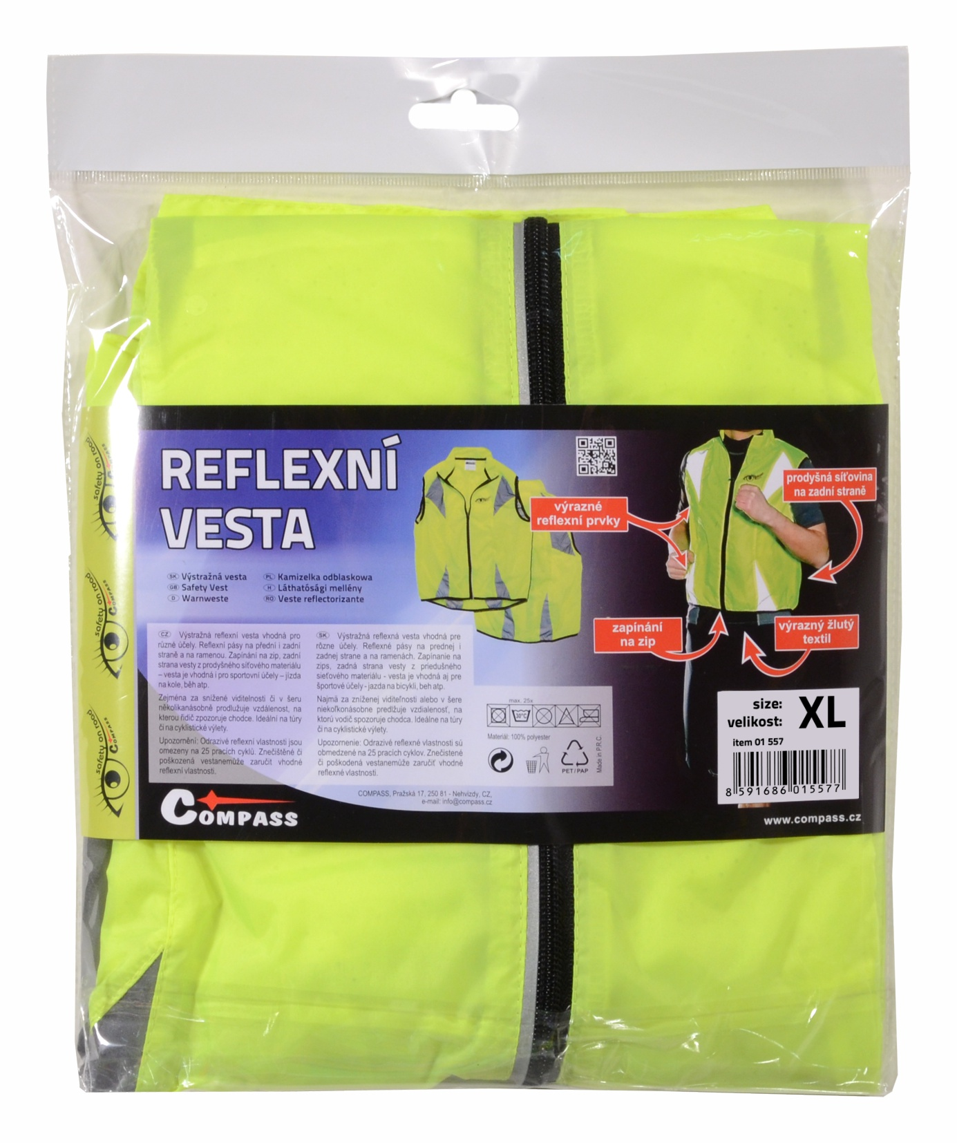 Vesta XL reflexní žlutá S.O.R.