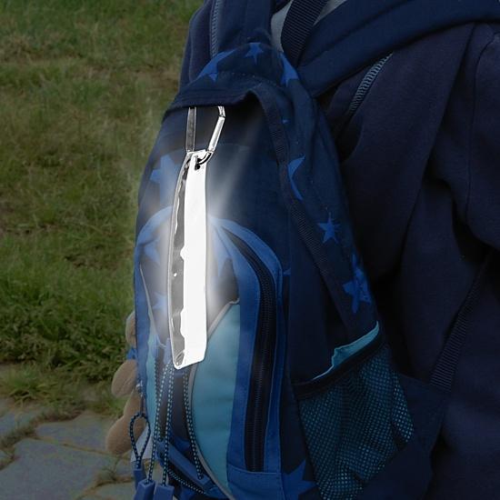 Přívěšek s karabinou reflexní S.O.R. stříbrný