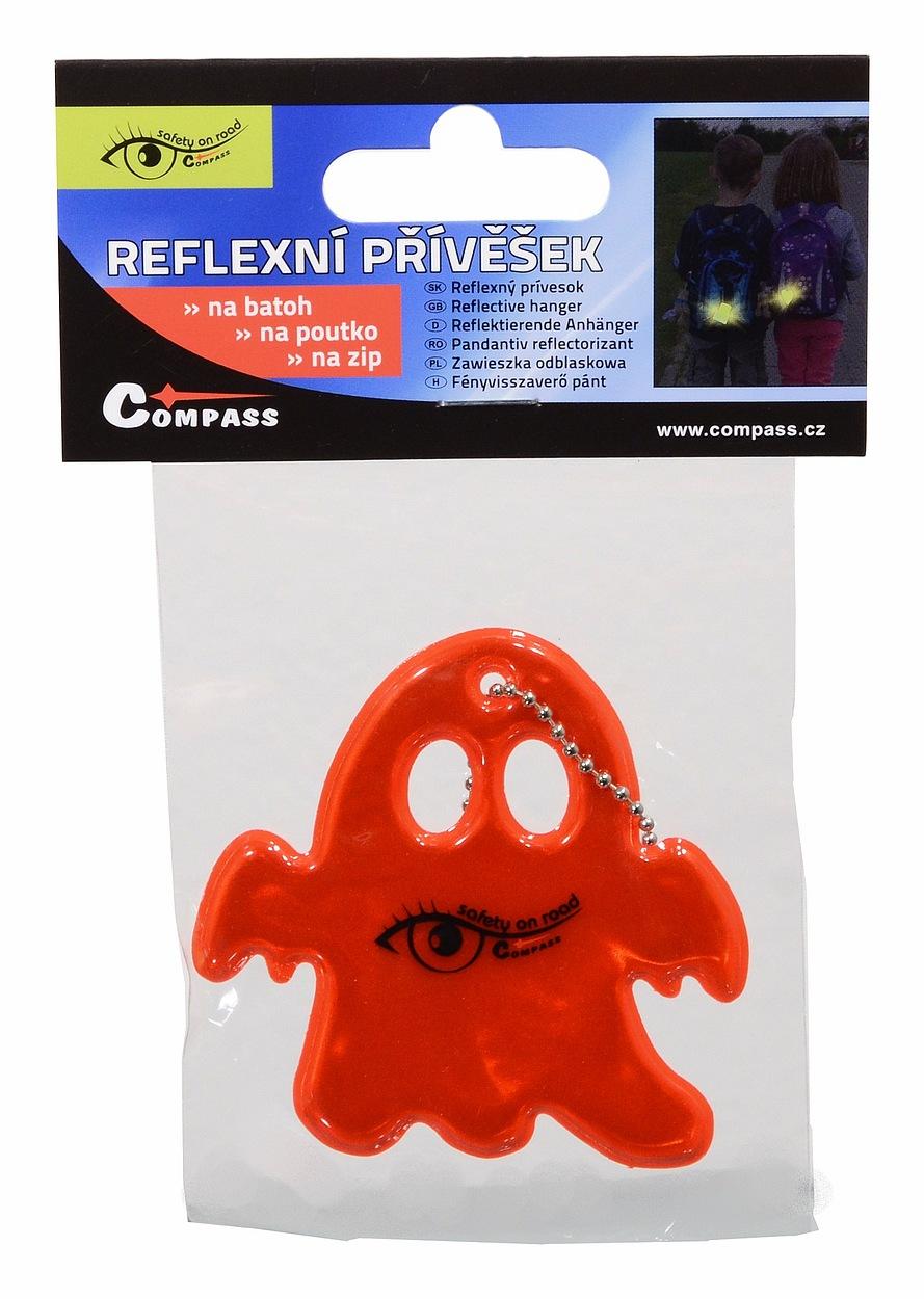 Přívěšek reflexní GHOST - červený