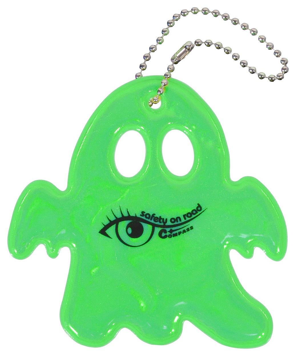 Přívěšek reflexní GHOST - zelený