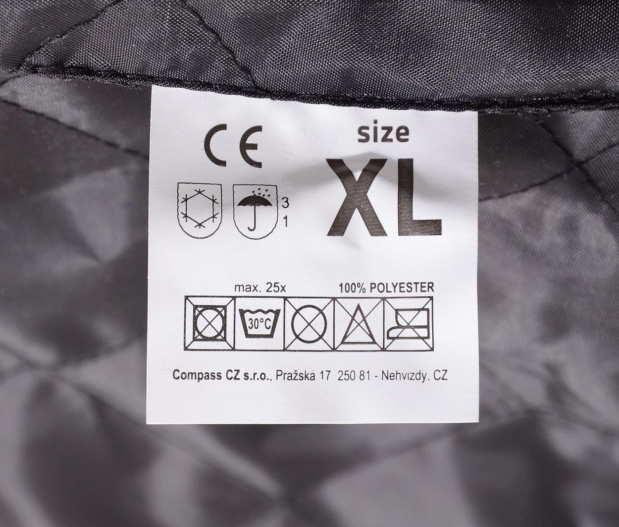 Bunda s kapucí reflexní SAFETY XL