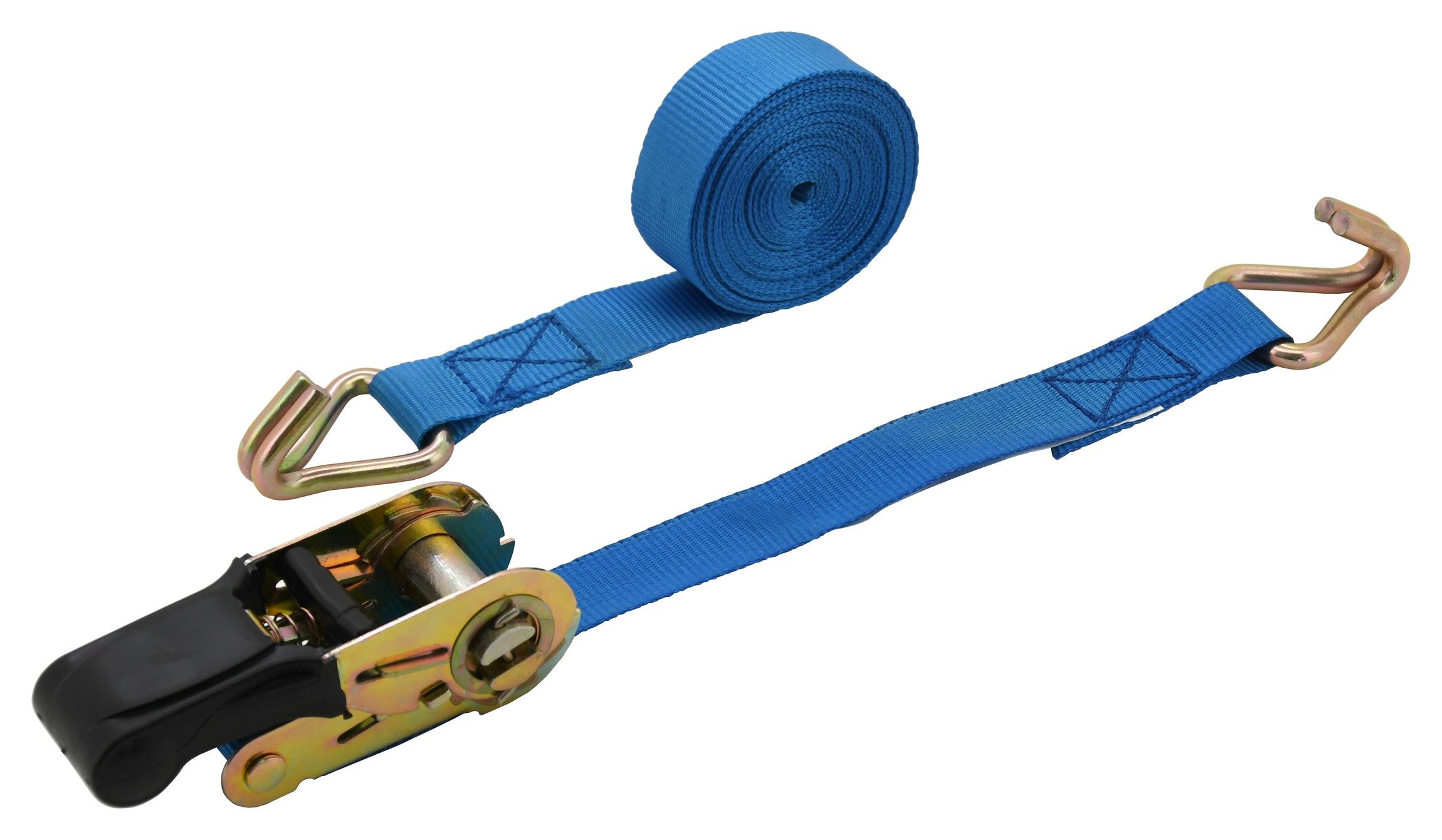 Popruh s ráčnou a háky 1ks 350daN 25mm x 5m TÜV