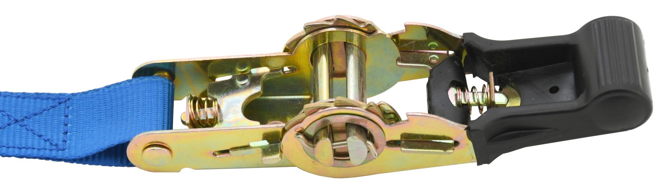Popruh s ráčnou a háky 1ks 350daN 25mm x 5m TÜV/GS