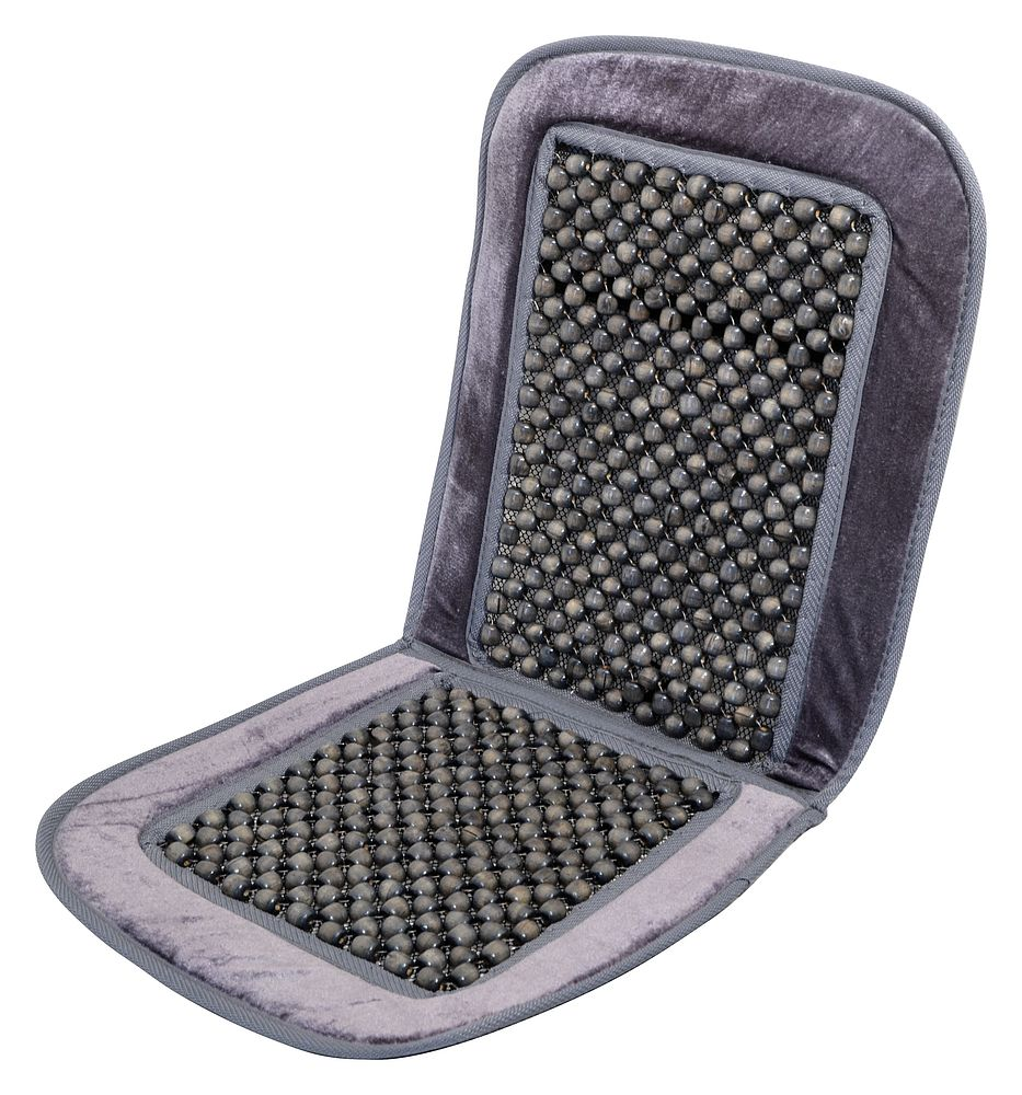 Potah sedadla kuličkový s lemem šedý 93x44cm