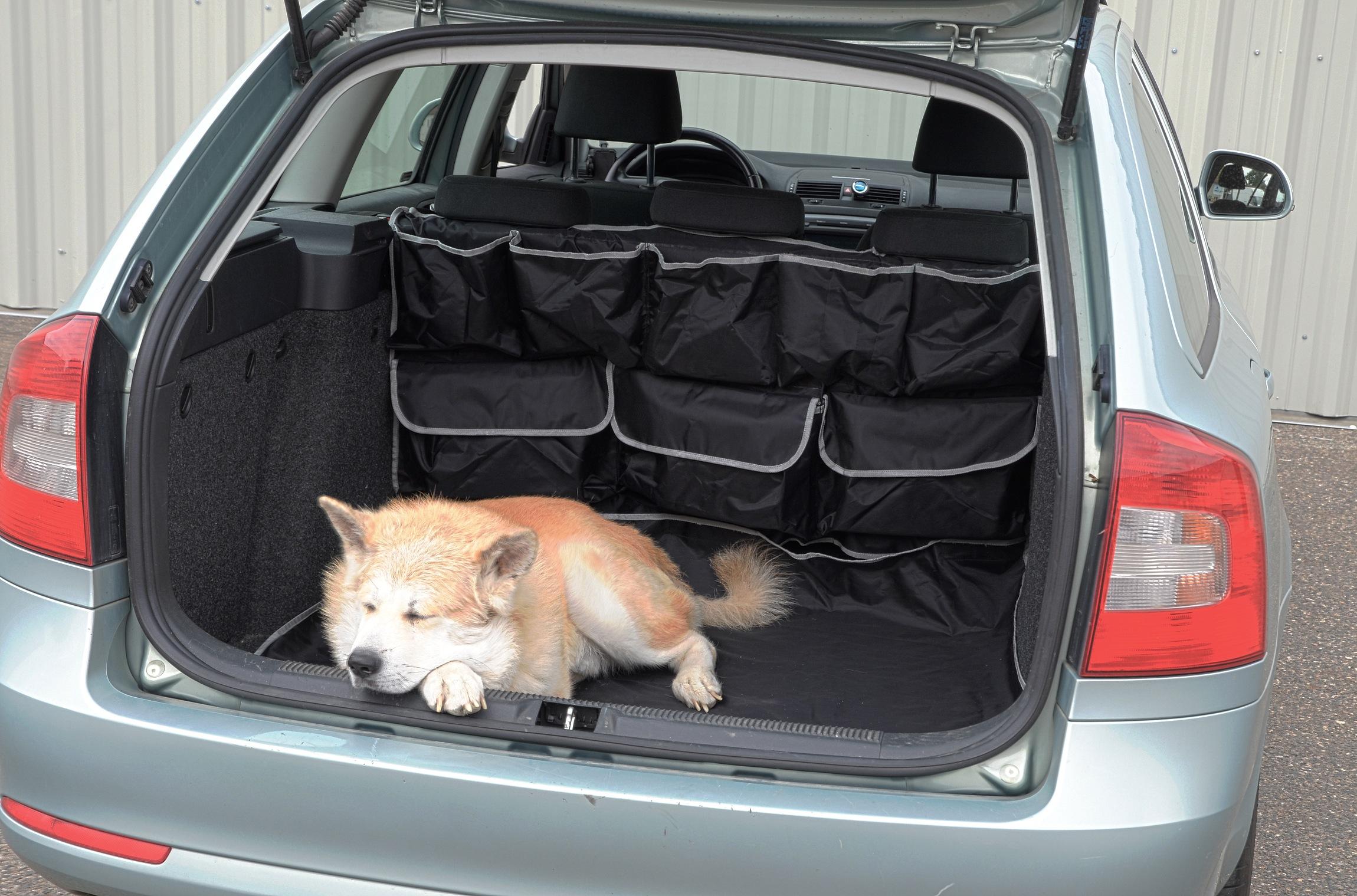 Deka ochranná do kufru s kapsami