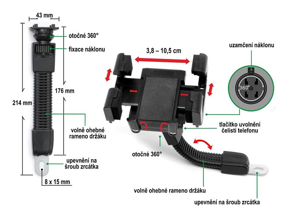 Držák telefonu / GPS MOTO