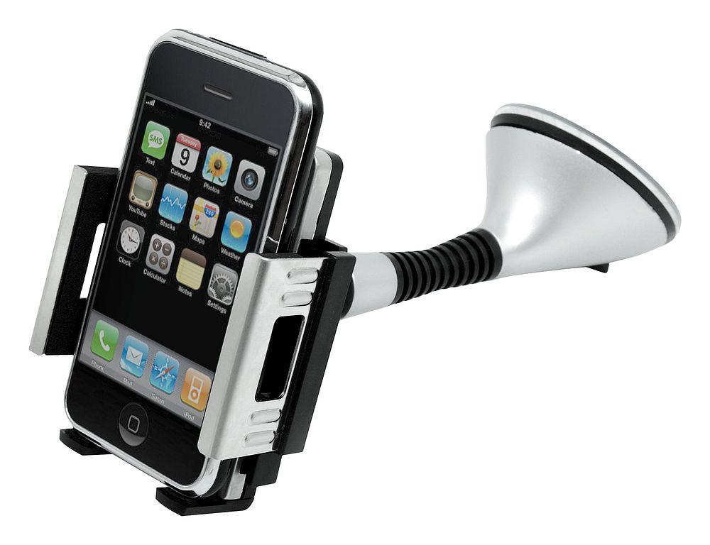Držák telefonu / GPS na přísavku SILVER