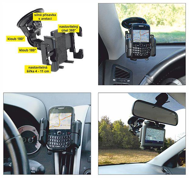 Držák PDA/GPS multi angle s kloubem