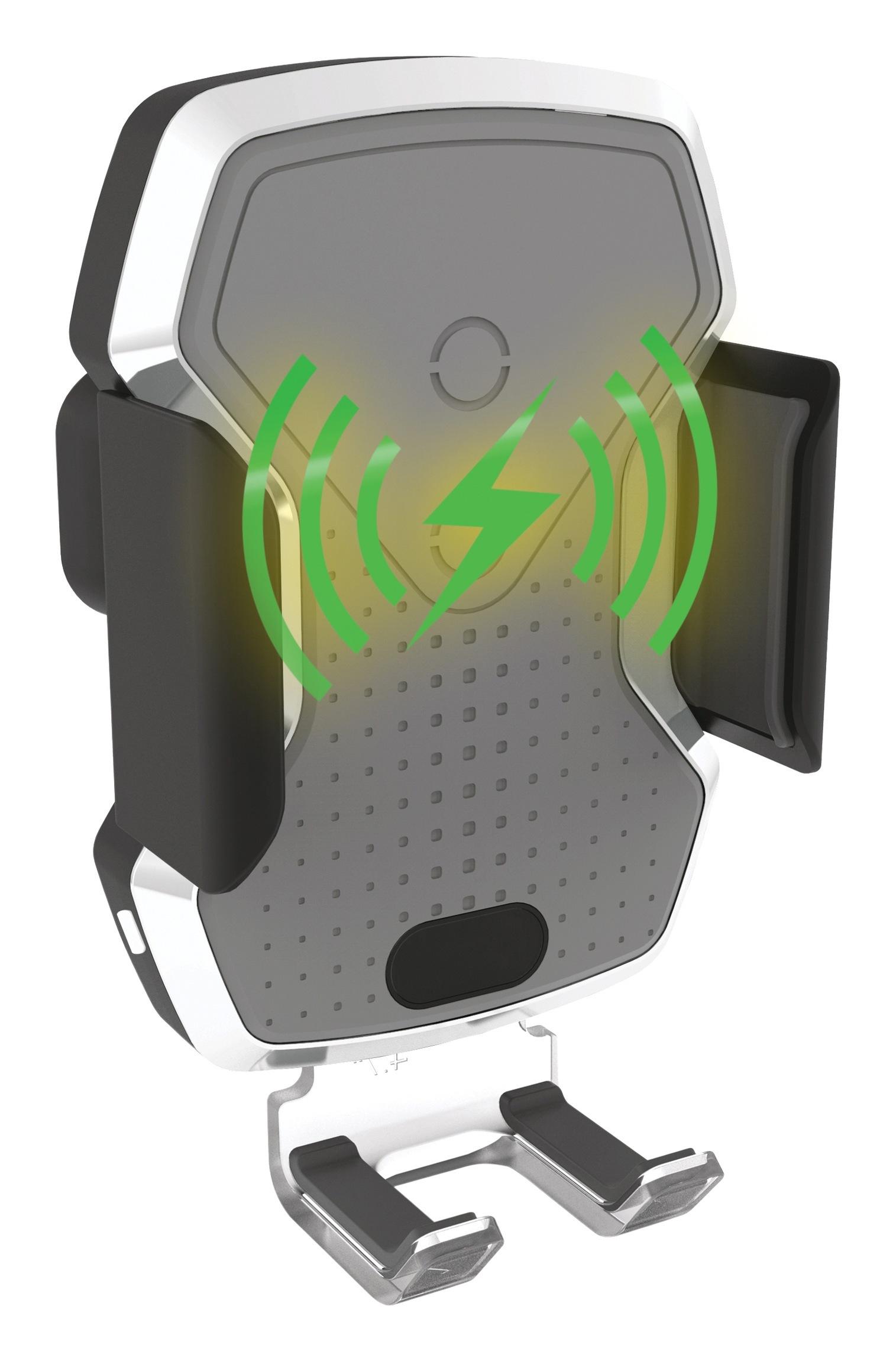 Držák telefonu LUKE-X bezdrátové nabíjení 10W silver
