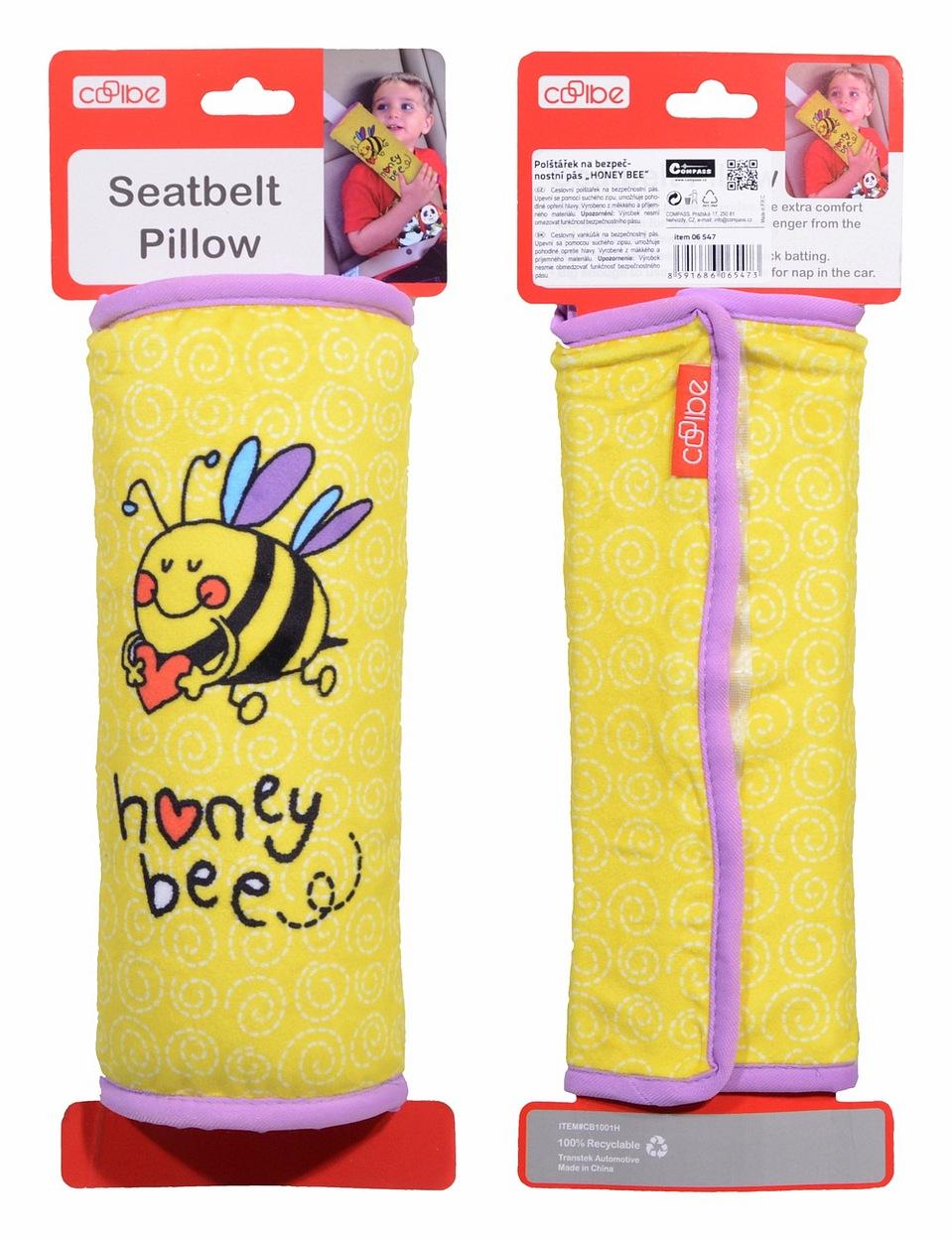 Polštářek na bezpečnostní pás HONEY BEE
