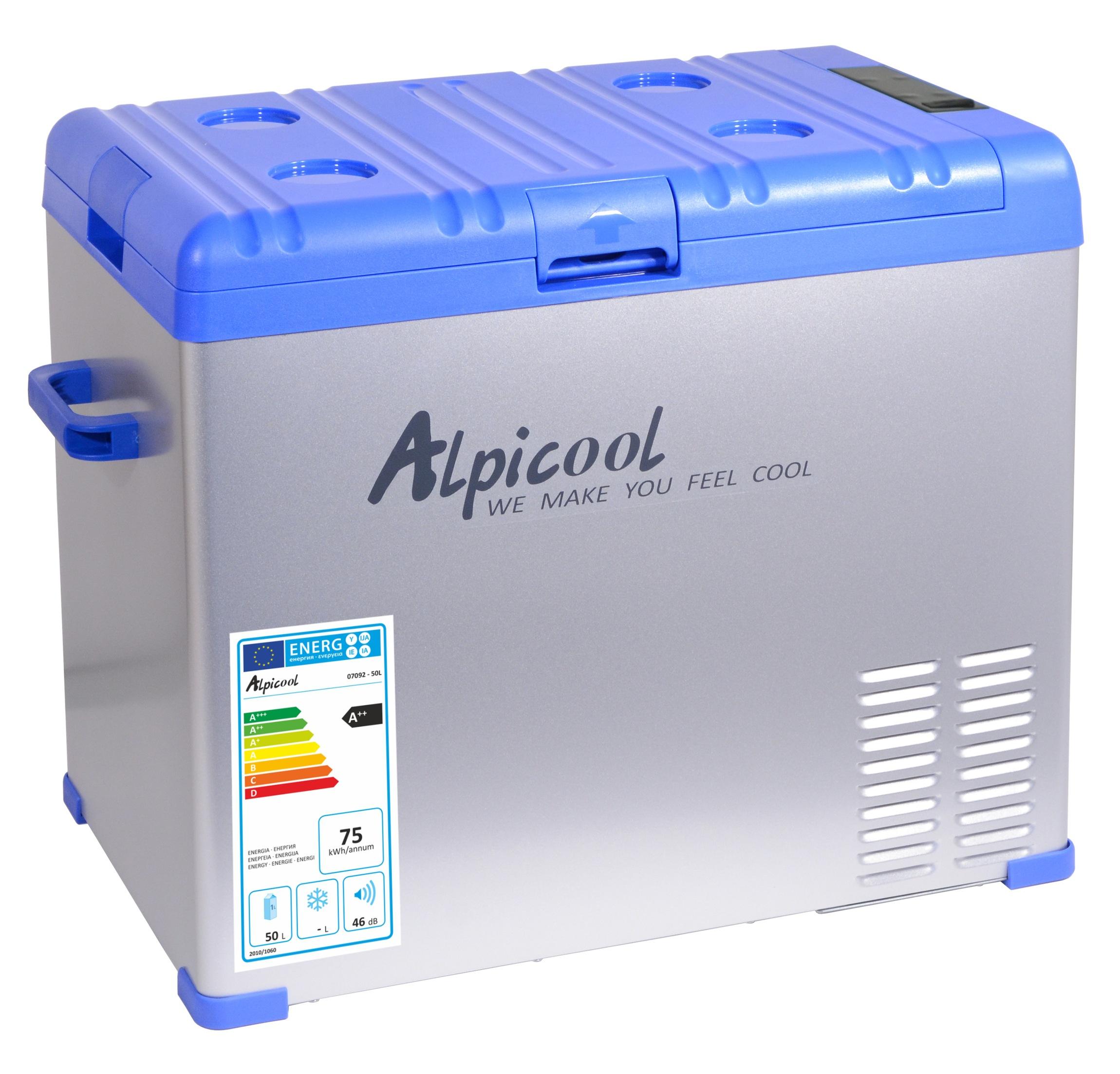 Chladící box kompresor 50l 230/24/12V -20°C BLUE