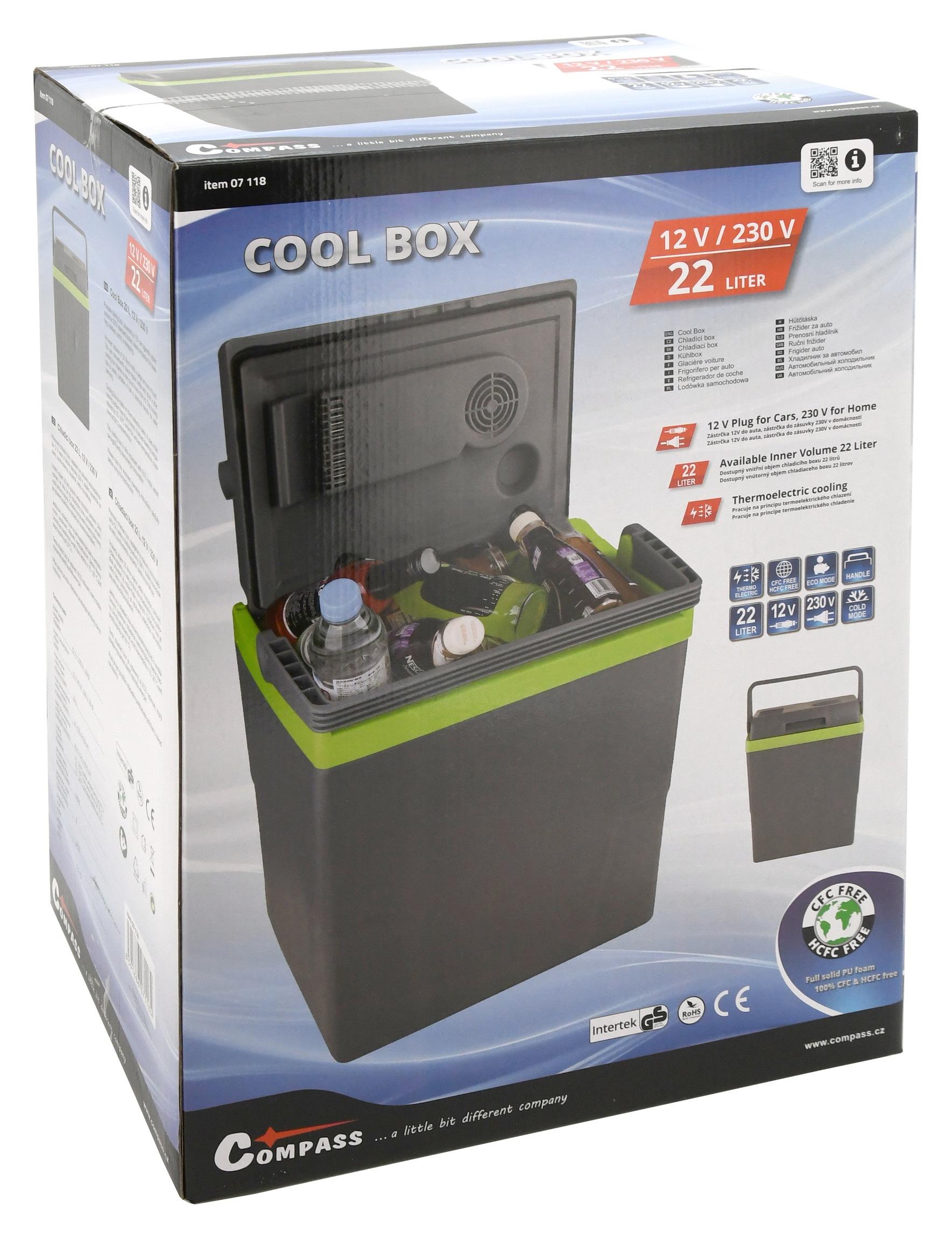 Chladící box 22l 230V/12V ECO A++