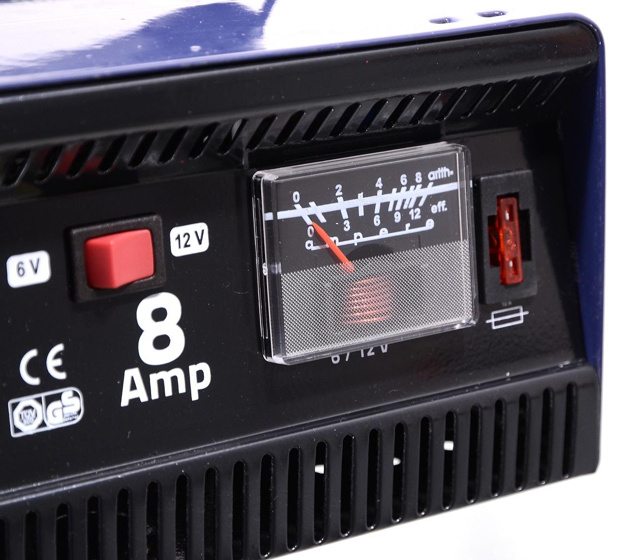Nabíječka 8Amp 6/12V TÜV/GS METALLIC