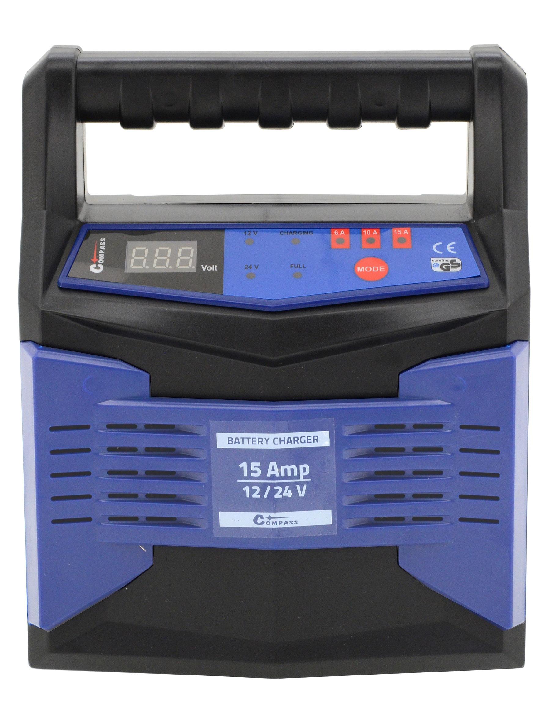 Nabíječka mikroprocesor 15Amp 12/24V PB/GEL LCD display