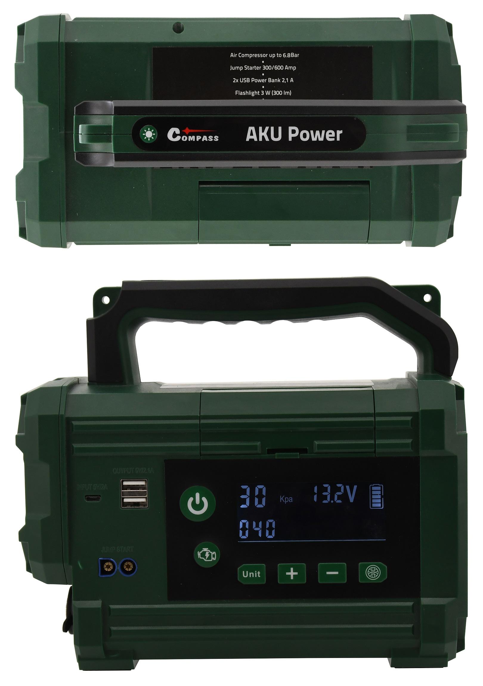 Kompresor / zdroj AKU Power starter 300A LiFePO4