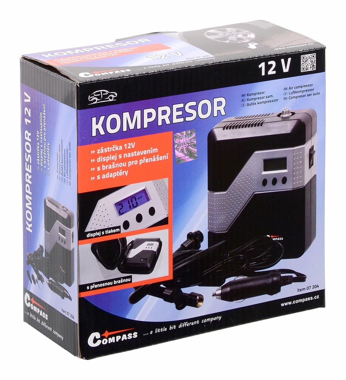 Kompresor 12V BRICK digitální