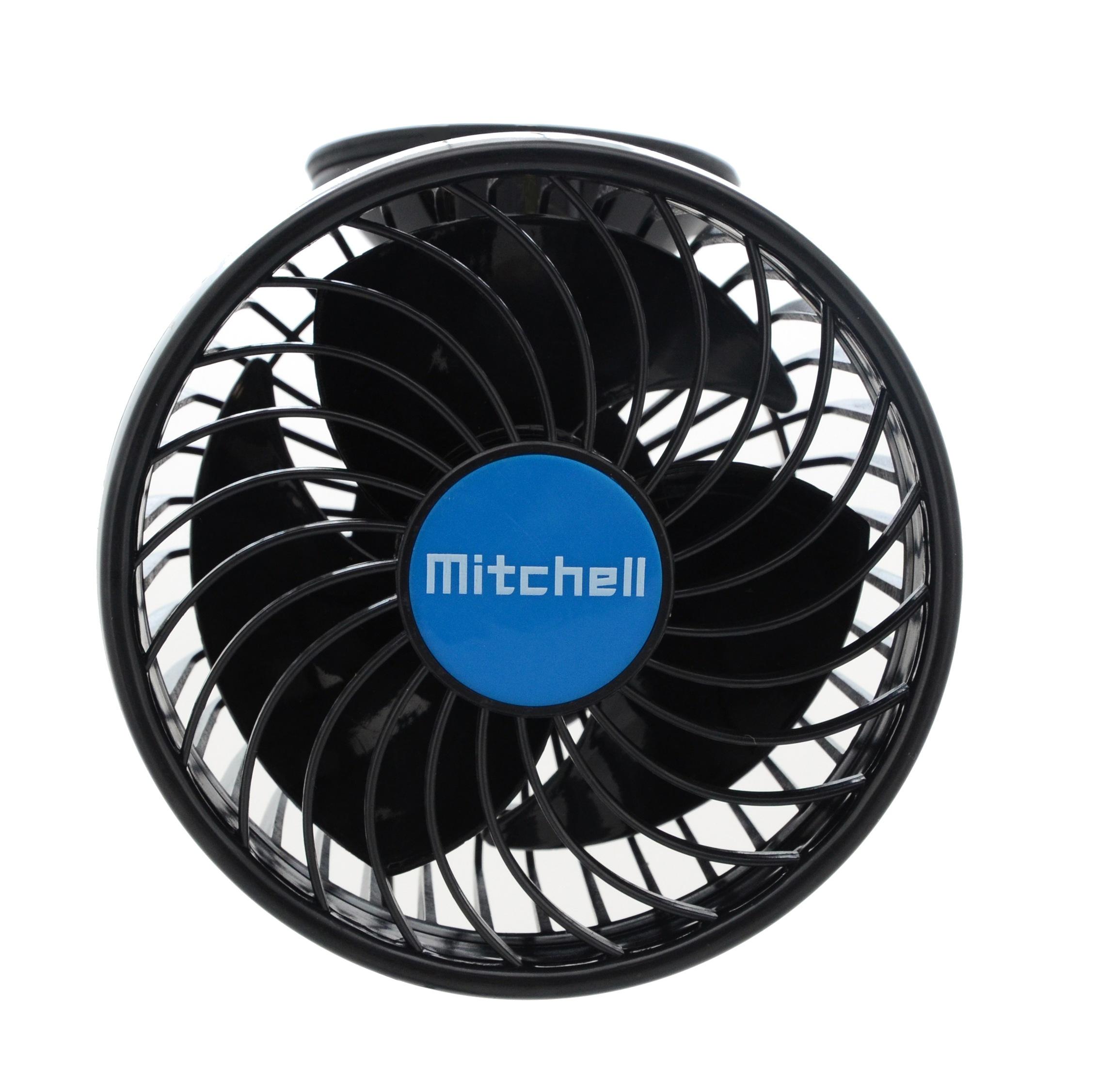 Ventilátor MITCHELL 115mm 12V na přísavku