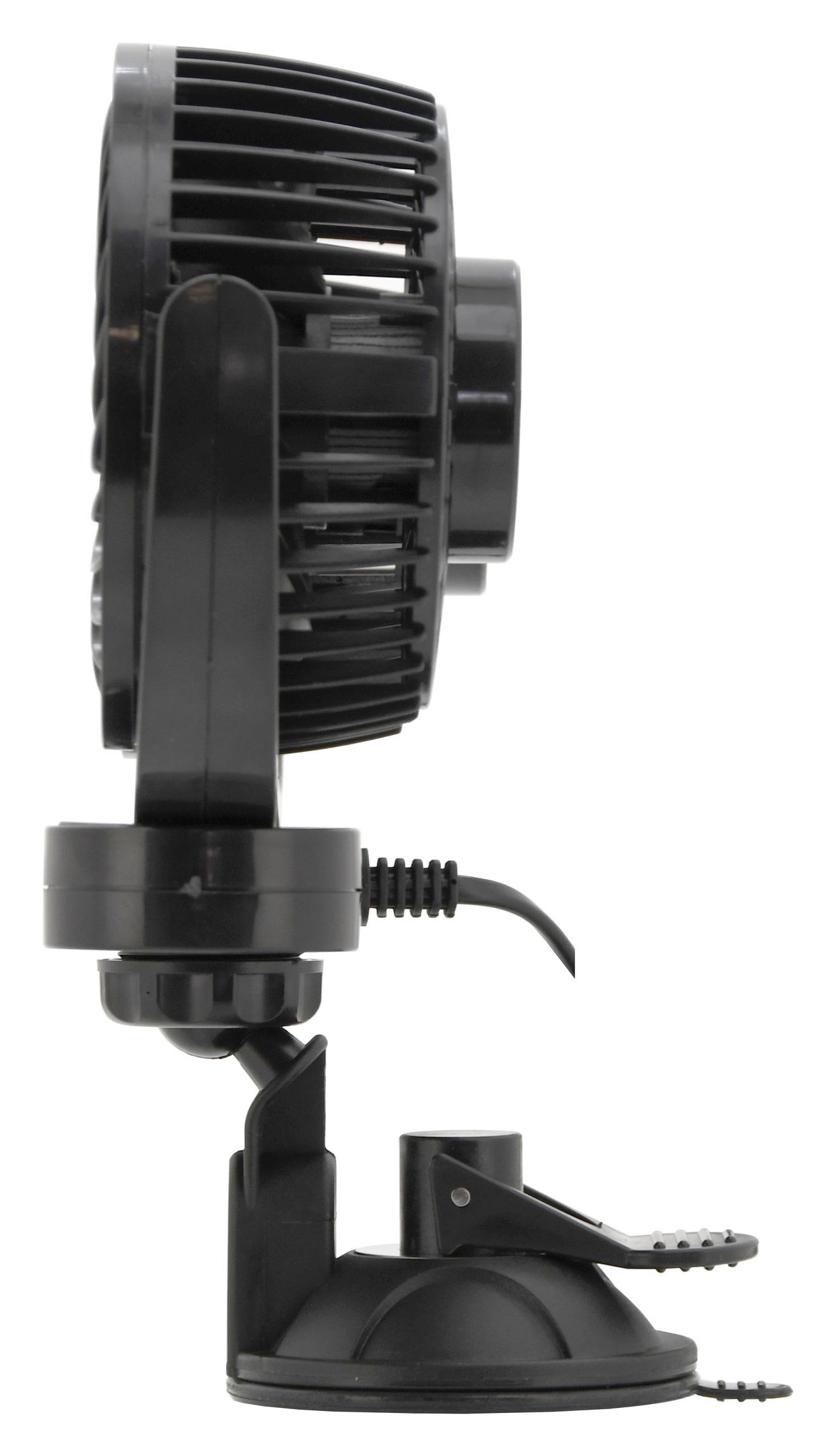Ventilátor MITCHELL DUO 2x108mm 12V na přísavku