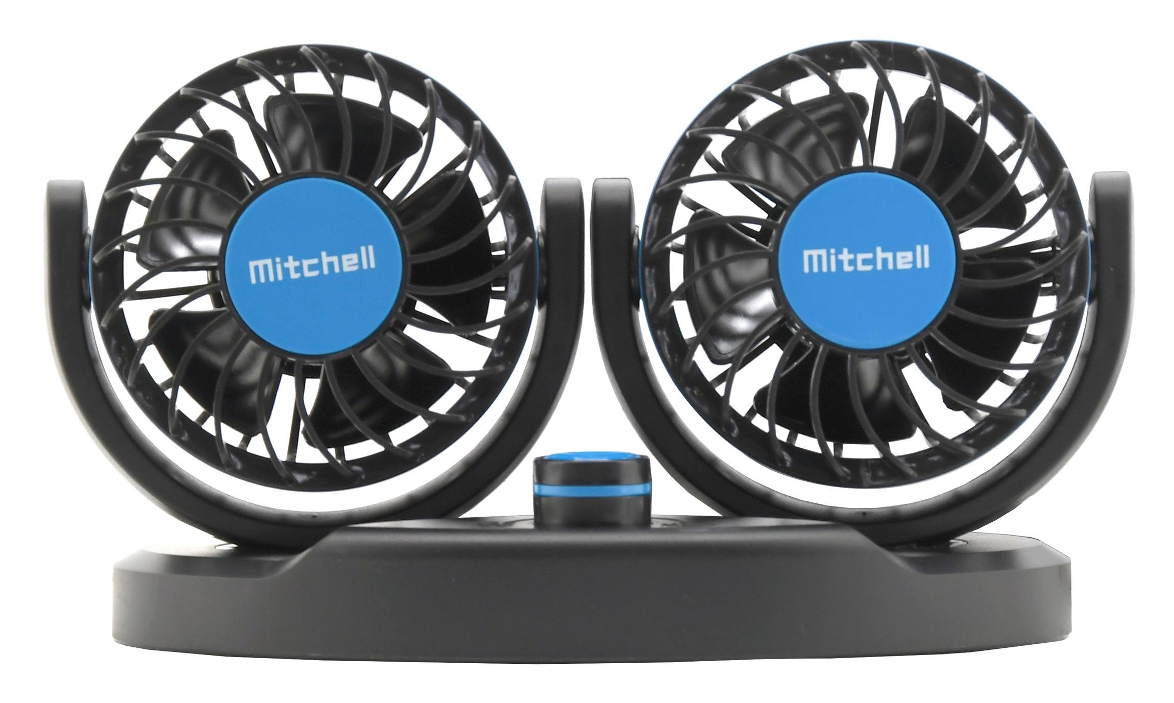 Ventilátor MITCHELL DUO 2x85mm 12V na palubní desku