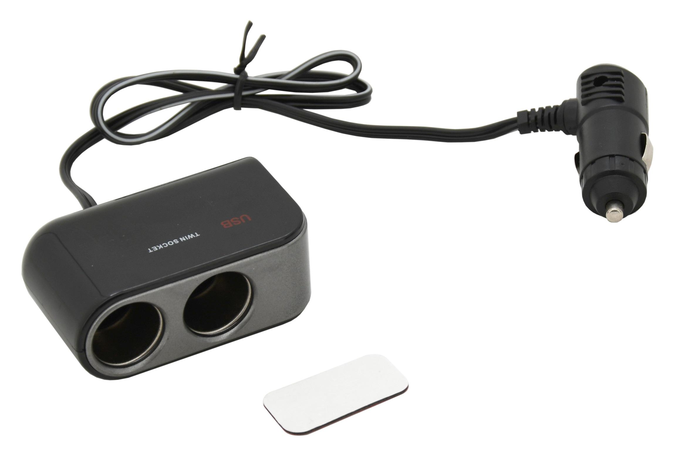 Rozdvojka 12/24V + 2x USB 2100mA