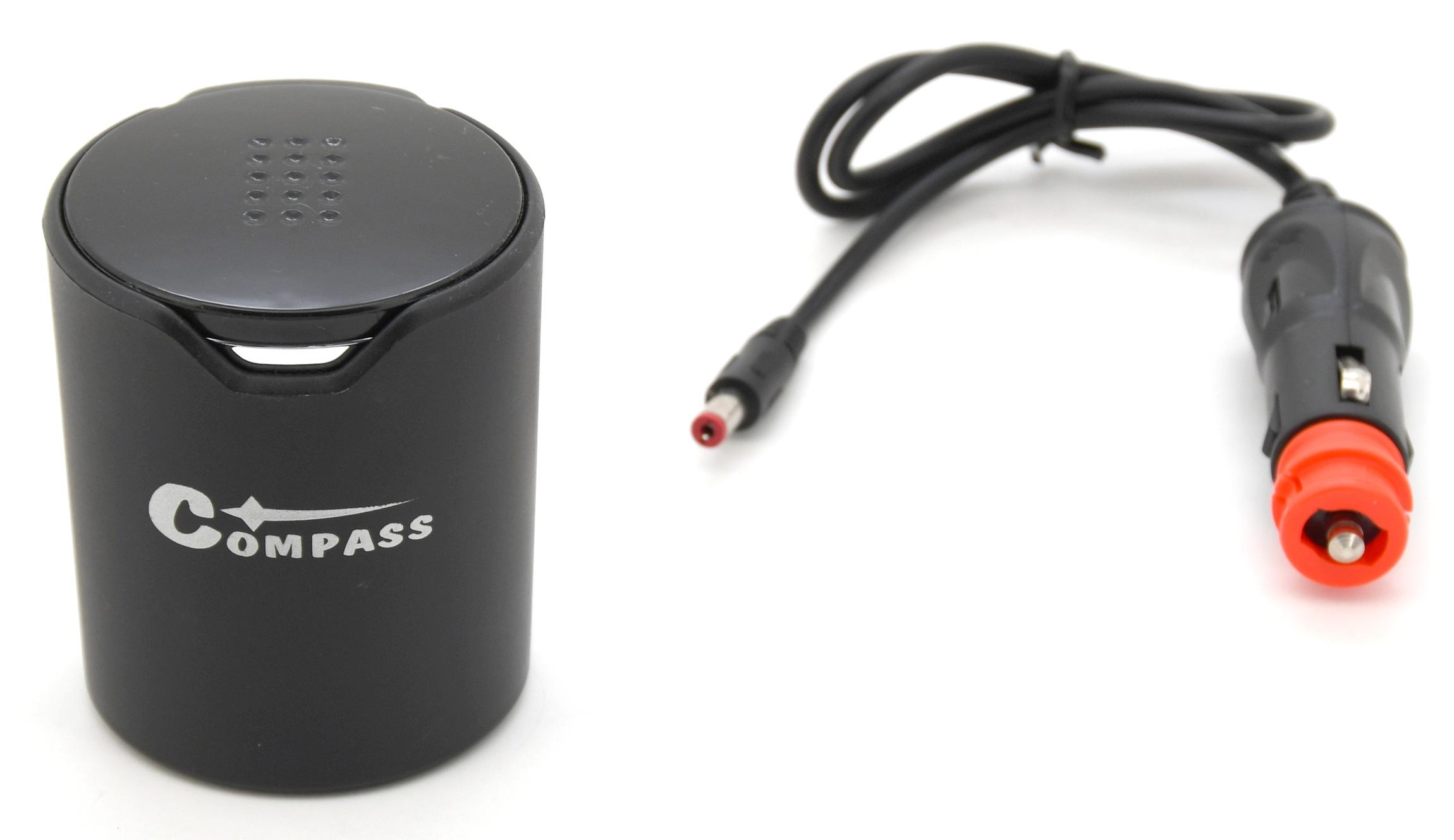 Rozdvojka do držáku nápojů 12/24V 120W + 2x USB (1,0+2,4A)