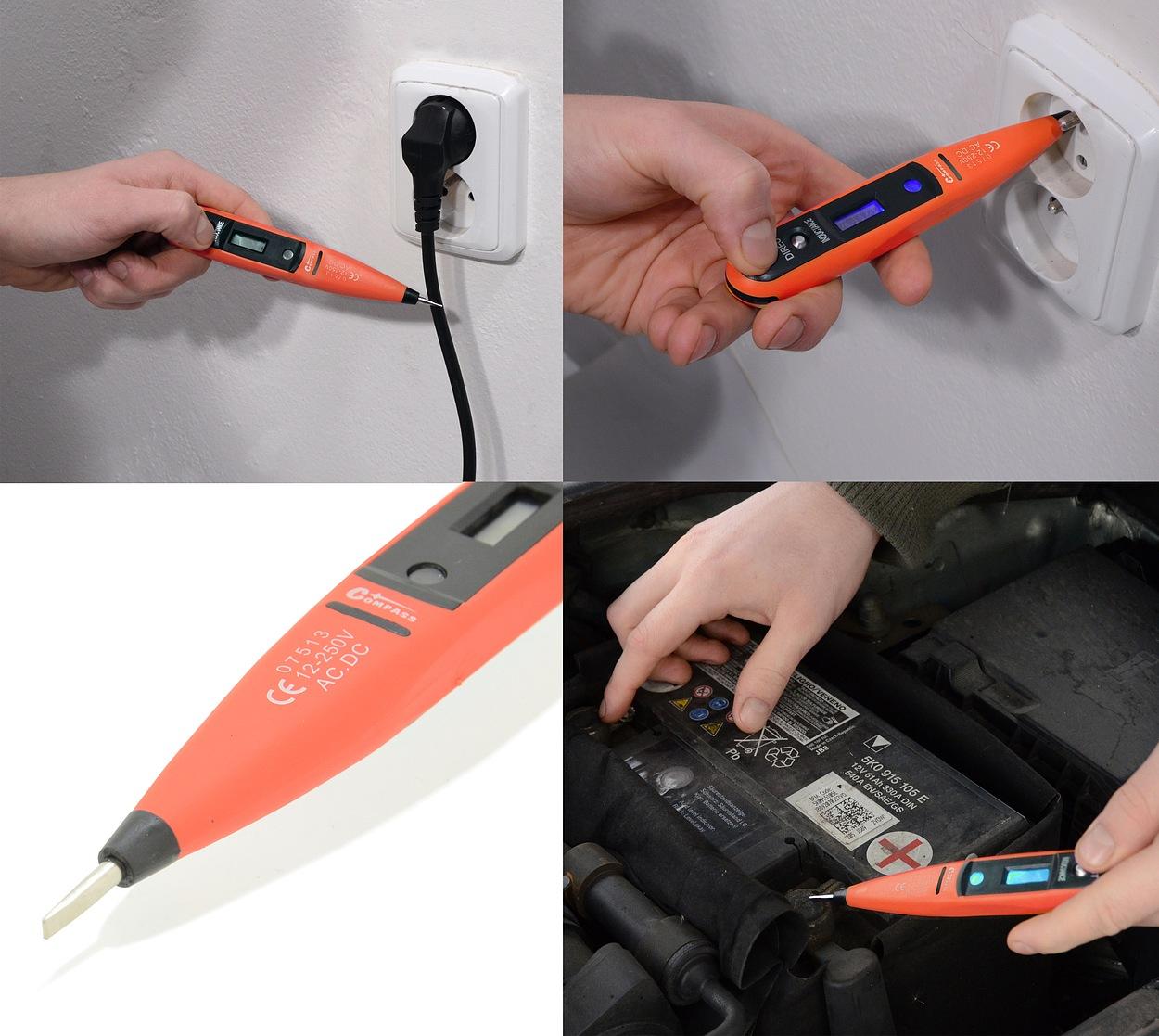 Zkoušečka digitální 12-250V