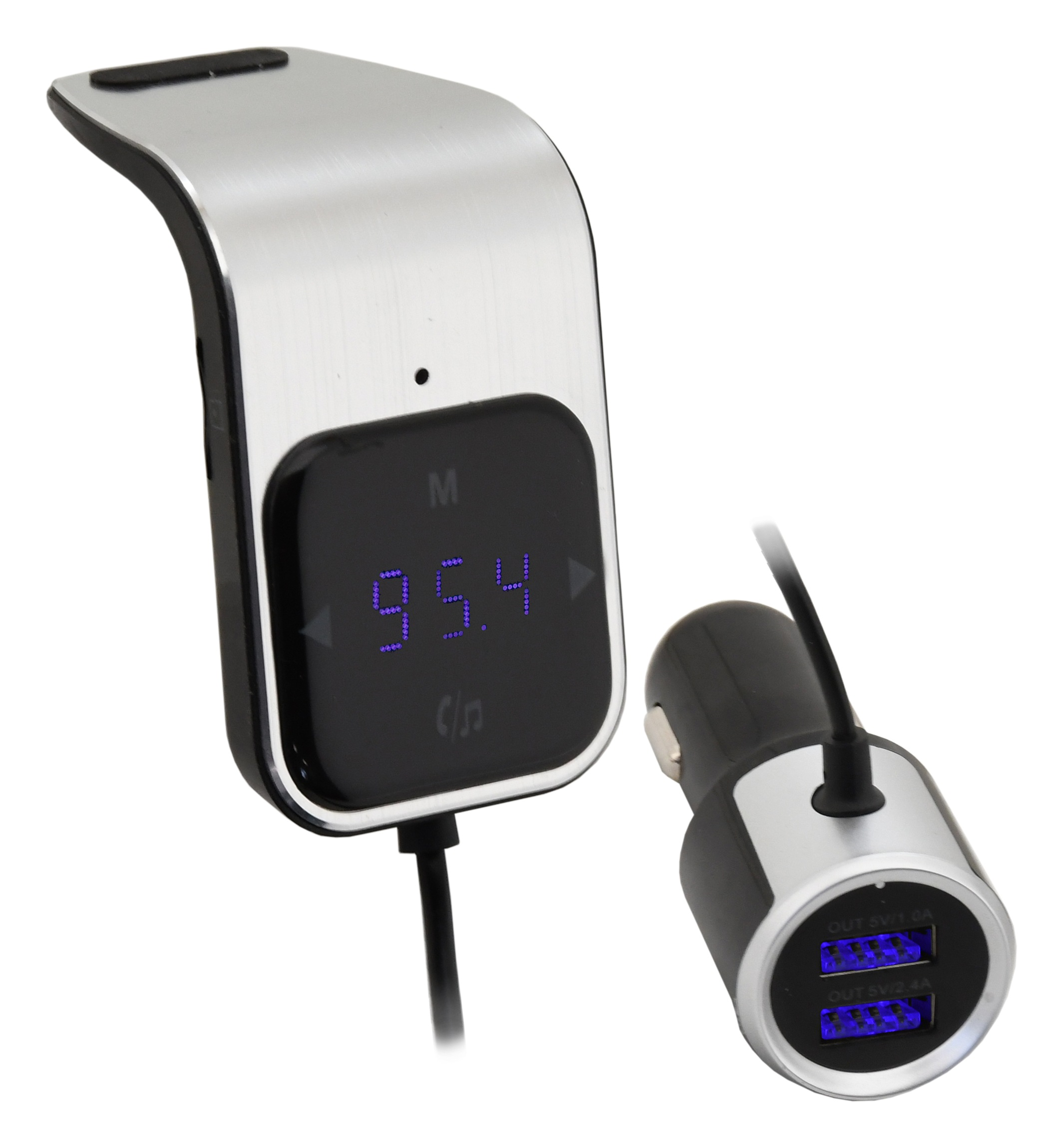 Hands free FM transmitter do mřížky