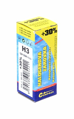 Žárovka 12V  H3  55W Pk22s box FLASH +30%