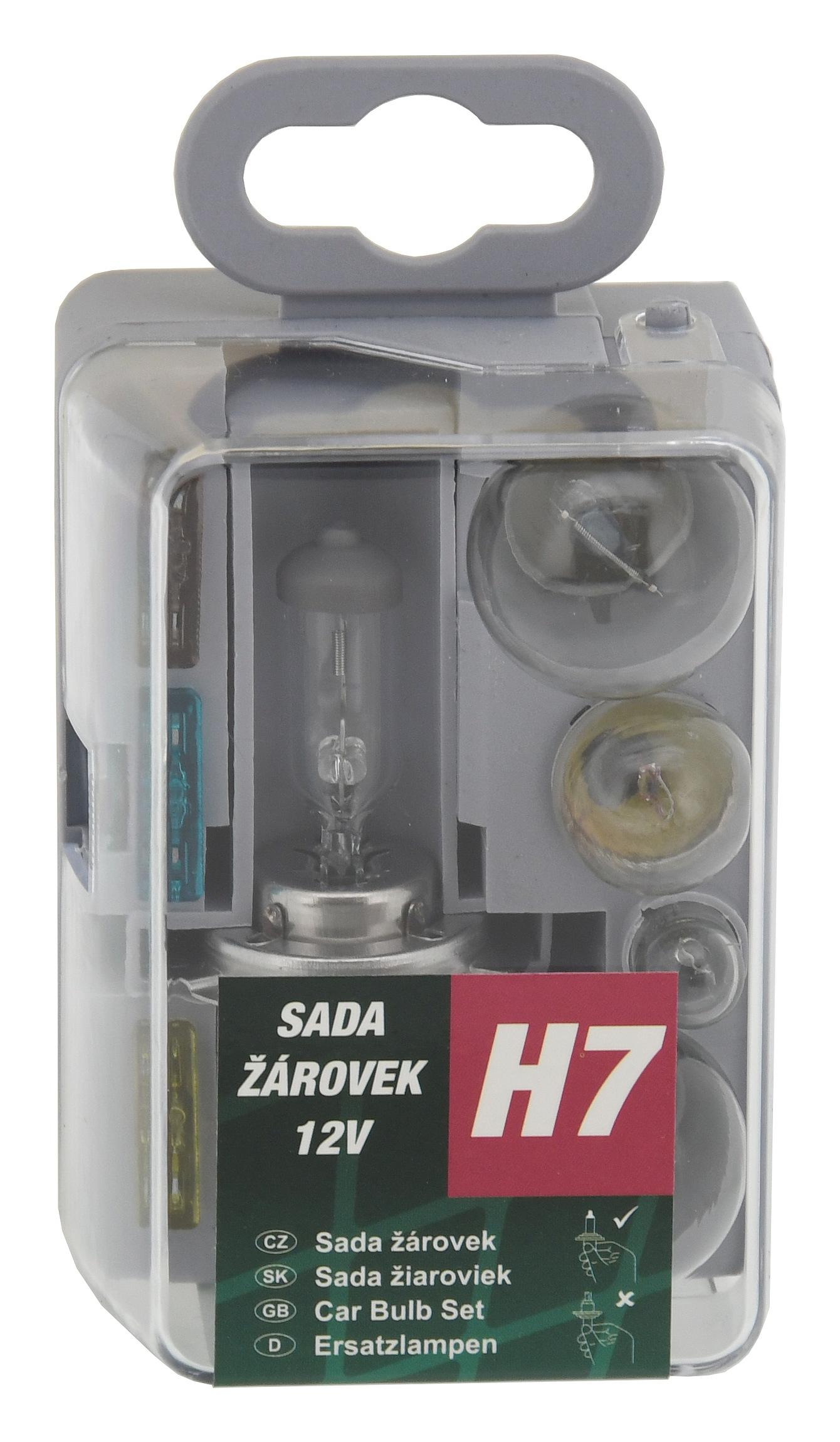 Žárovky servisní box univerzální H7 GREEN