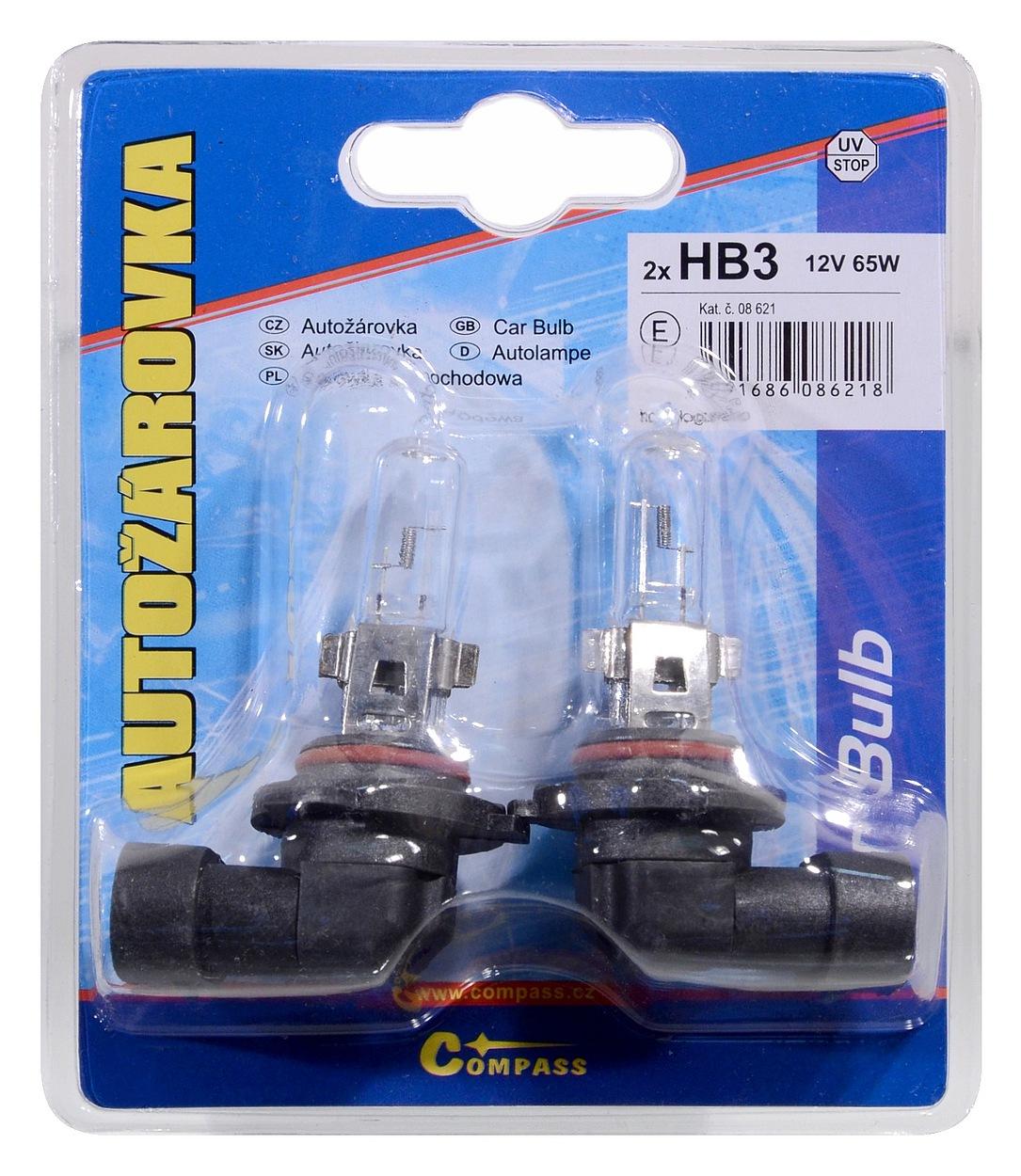 Žárovka 12V  HB3  60W P20d blister 2ks