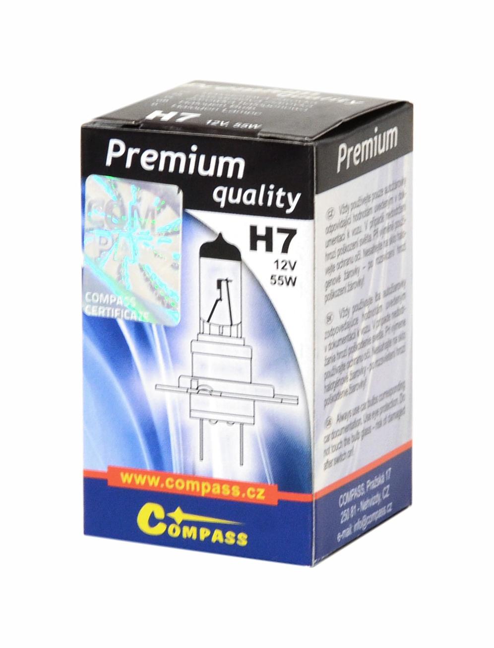 Žárovka 12V H7 PREMIUM 55W PX26d box