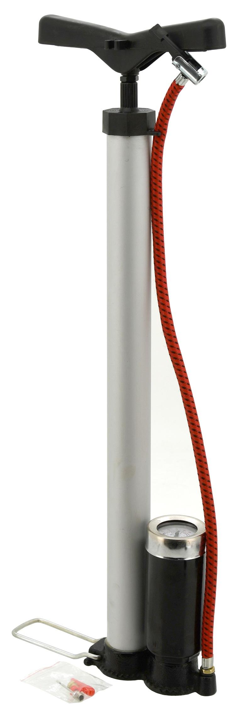 Hustilka ruční 510 x 35mm ALU s manometrem