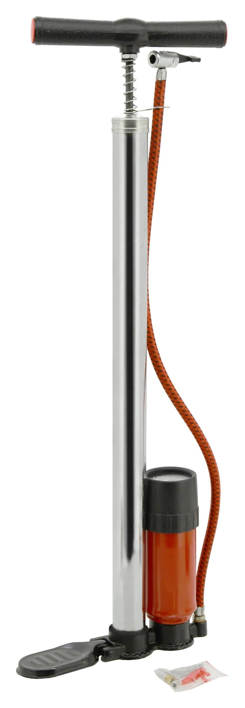 Hustilka ruční 500 x 32mm CHROM s manometrem