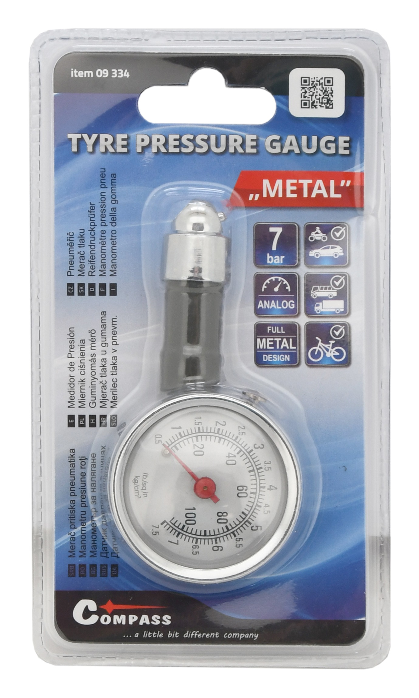 Pneuměřič METAL 7 bar