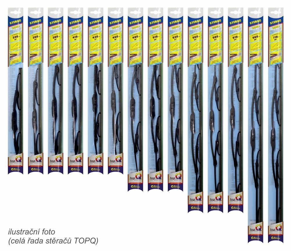 Stěrač kovový TOPQ  660 mm GRAFIT