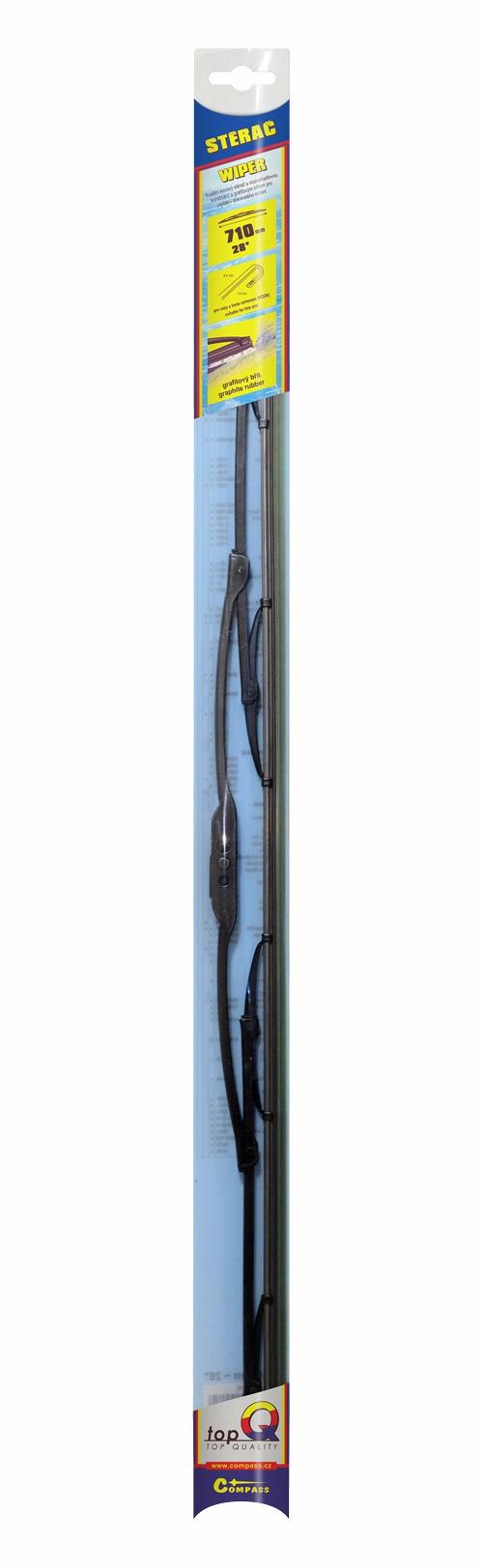 Stěrač kovový TOPQ  710 mm GRAFIT