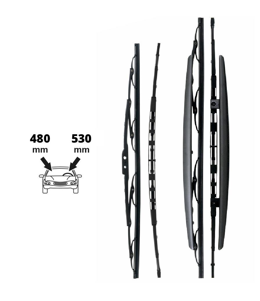 Stěrače 530+480 mm   FAB-OCT