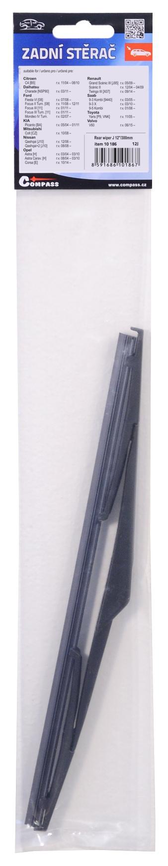 """Stěrač zadní plastový J 12""""/300mm"""