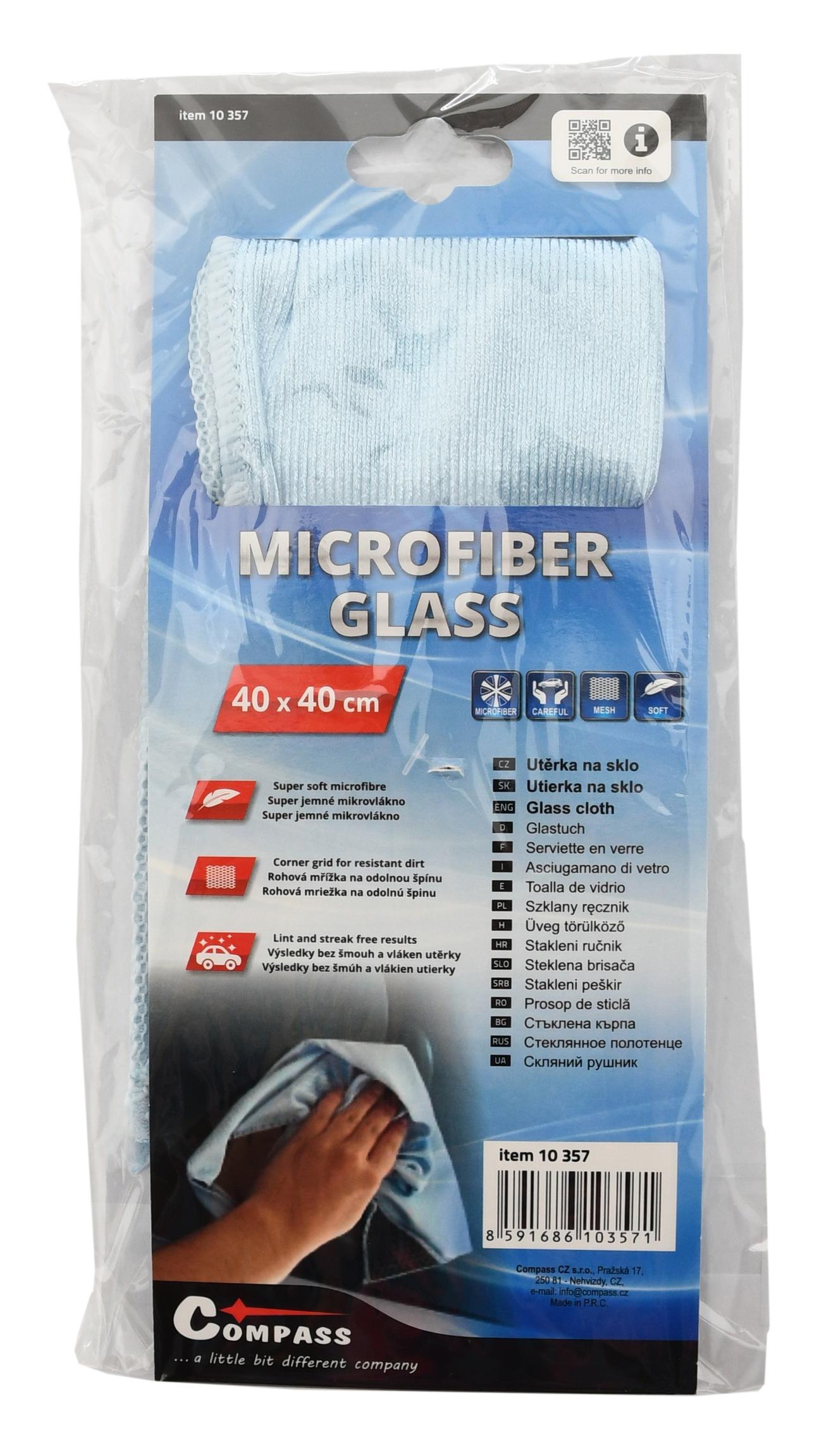 Mycí utěrka na sklo MICROFIBER 40x40cm