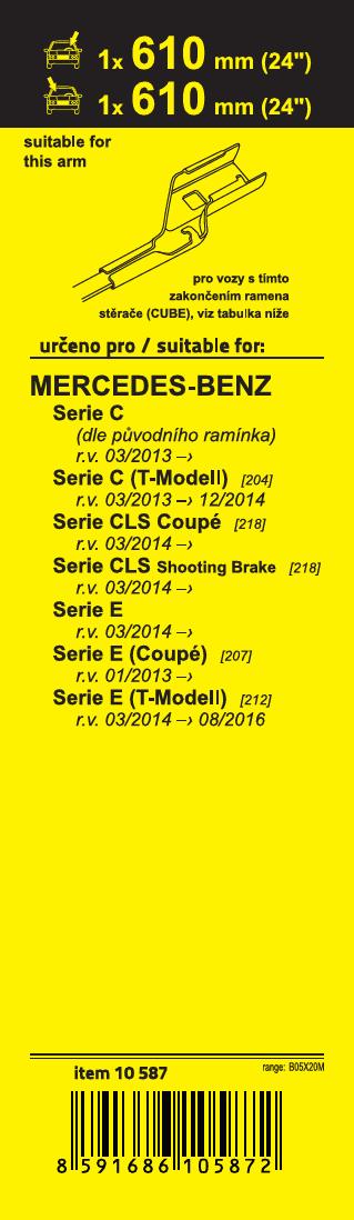 Stěrače FLAT SET (CUBE) 610+610mm