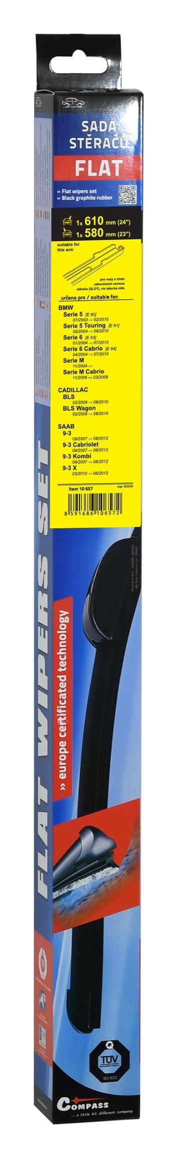 Stěrače FLAT SET (SLOT) 610+580mm