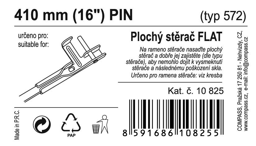 "Stěrač FLAT BULK (PIN) 16""/410mm"