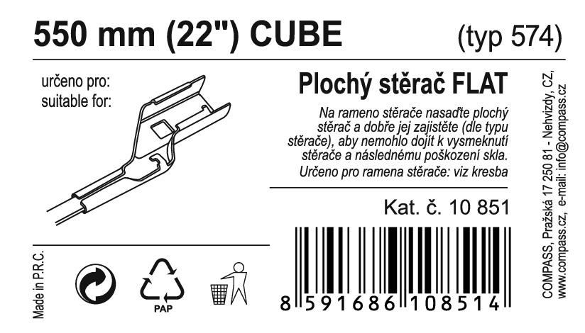 "Stěrač FLAT BULK (CUBE) 22""/550mm"