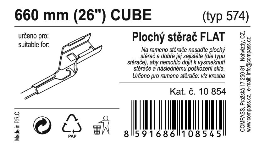 "Stěrač FLAT BULK (CUBE) 26""/660mm"