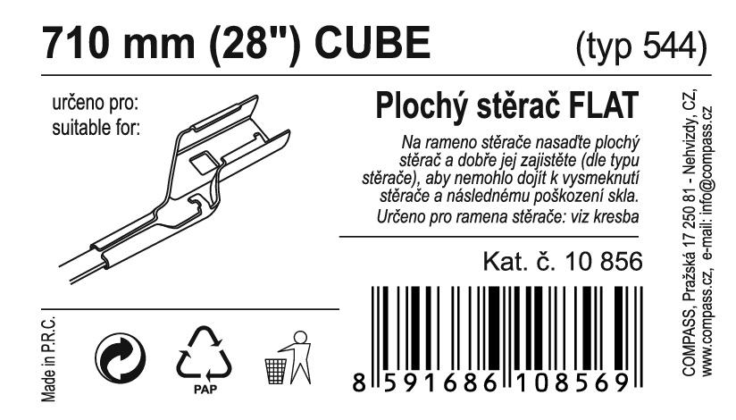 "Stěrač FLAT BULK (CUBE) 28""/710mm"