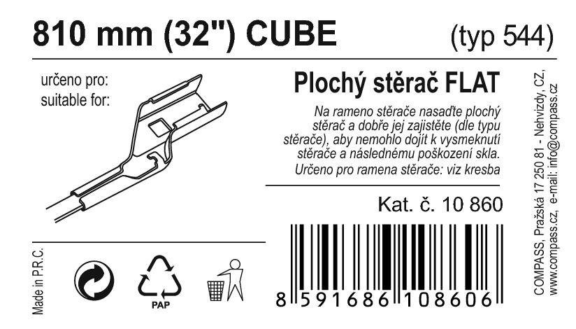"Stěrač FLAT BULK (CUBE) 32""/810mm"