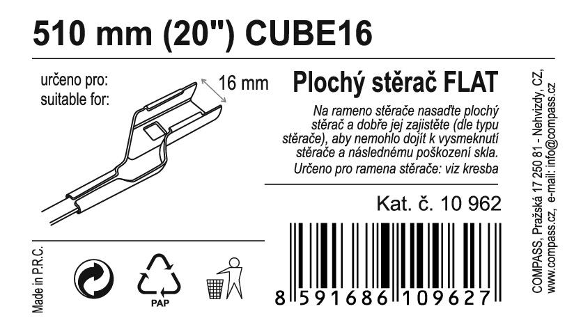 "Stěrač FLAT BULK (CUBE16) 20""/510mm"